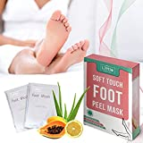 MY LITTLE BEAUTY Foot Peel Mask - Dead Skin Remover for Touch Smooth Feet (2 Pairs Per Box)