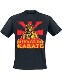 Officially Licensed Merchandise Karate Kid Miyagi Do Karate Mens T-Shirt (Black)