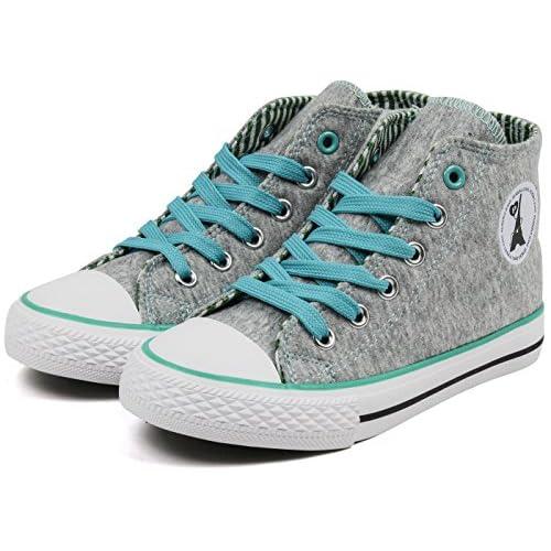(パーソンズ ジーンズ) PERSON'S JEANS 子供靴 ハイカットスニーカー 女の子 ジュニア 運動靴 PSJ-007 グレー 22cm