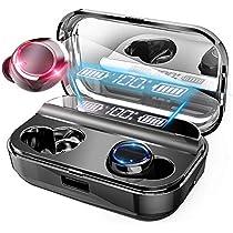 【2020最新版 LED電量表示 Bluetooth5.0 イヤホン 】 最新 EDR搭載 イヤホン ワイヤレス イヤホン IPX7完全防水 電池残量インジケーター付き イヤホン Hi-Fi 高音質 AAC対応 完全ワイヤレスイヤホン (黑)