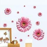 セリーヌ (ブルック&セリーヌ)Brooke & Celine ウォールステッカー 大きい ピンク 花 ベッドルーム 剥がせる 壁紙 家飾り 居間 壁飾り