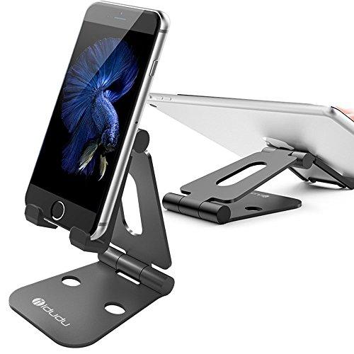 スマホ スタンド iDudu タブレット用スタンド 折り畳み式 Nintendo Switchにも対応 (ブラック)