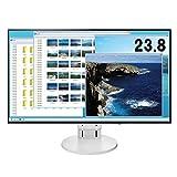 【Amazon.co.jp限定】EIZO 23.8型モニター(IPS/フレームレス/ブルーライト軽減/HDMI/DisplayPort /5年間&無輝点保証/クリーナー付属)EV2451-RWTAZ