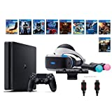 PlayStation VR Deluxe Bundle 12 Items:VR Headset,Playstation Camera,Motion,PS4 Slim-Uncharted 4,8 VR Game Disc:Rush of Blood,Valkyrie,Battlezone,Batman,DriveClub,Eagle, RIGS,Resident Evil 7:Biohazard [並行輸入品]