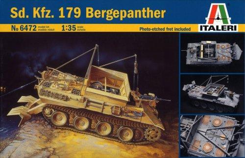 タミヤ イタレリ 1/35 ミリタリーシリーズ 6472 1/35 パンサー戦車回収車 Sd.Kfz.179 エッチングパーツ付き 38472