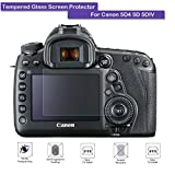 MOTONG Canon EOS 5D Mark IV 5Dのための強化ガラススクリーンプロテクター、9Hの硬度、0.3mmの厚、実際のガラス製造