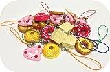 かわいいスイーツストラップ【50個アソート】(お菓子 チョコレート ケーキ ドーナツ ストラップ)
