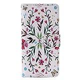 Spinas(スピナス) 種類いろいろ シンプル おしゃれ 手帳型 スマホケース iPhone6 6S / iPhone6S plus 選べる5カラー (iphone6s, フラワー)