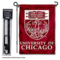College Flags and Banners Co. シカゴマルーン ガーデンフラッグ スタンドホルダー付き