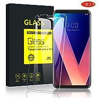 【2枚セット】LG V30 Plus ガラスフィルム isai V30 Plus LGV35/V30 Plus L-01K/JOJO L-02K/LG V30 Plus L-02K V30 フィルム ガラスフィルム/自動吸着/気泡ゼロ/指紋防止/飛散防止/9H硬度 強化ガラスフィルム(LG V30 Plus,透)