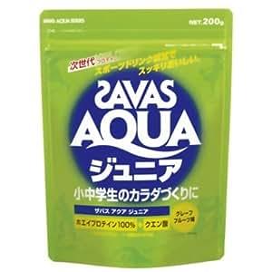 美味しくて水みたいにゴクゴク飲めるジュニア用プロテイン! ZAVAS(ザバス) アクアシリーズ(プロテイン) ジュニア 200g