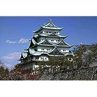 【日本の観光地ポストカードAIR】「Nagoya, Japan」名古屋城の葉書はがきハガキ