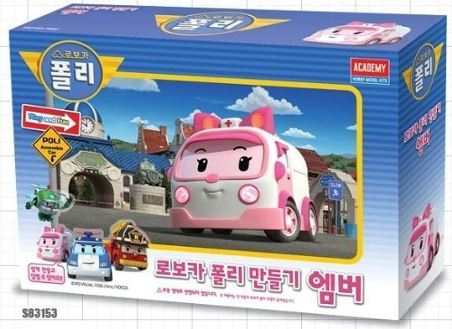 Robocar Poli Assemble Toy - Amber (Make a Robot) By Robocar Poli [並行輸入品]