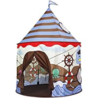 (Brown) - Homfu Castle Playhouse Pop Up Indoor Outdoor Toy Kids Play Tent For Children Gift With Viking Pattern