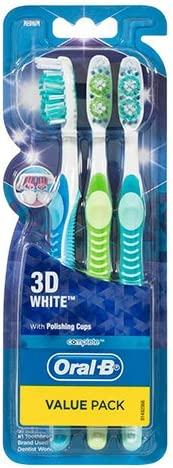 Oral-B Oral-B Complete 3D White Toothbrush Medium 3 Pack,