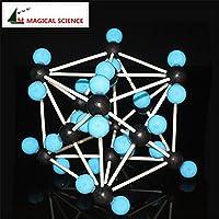 DuRone(TM) 30ミリメートルシリーズCO2の結晶構造モデルプラスチックロッド接続二酸化炭素分子モデル一括配信