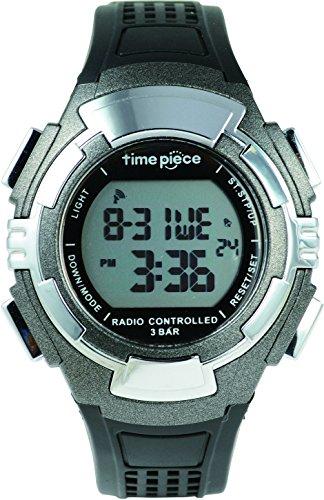 Time Piece タイムピース  腕時計 電波時計 ソーラー デュアルパワー  デジタル ガンメタ TPW-002GM
