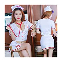 セクシーなエロランジェリーレディースプリットナース制服誘惑ロールプレイングセット アダルト玩具