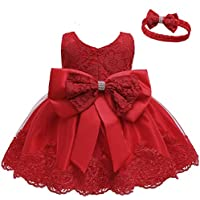 LZH Girls Dress Tulle Flower Lace Wedding Princess Dress for Baby Toddler