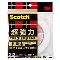 スコッチ 超強力両面テープ プレミアゴールド(多用途) SPG-12 12mm×4M