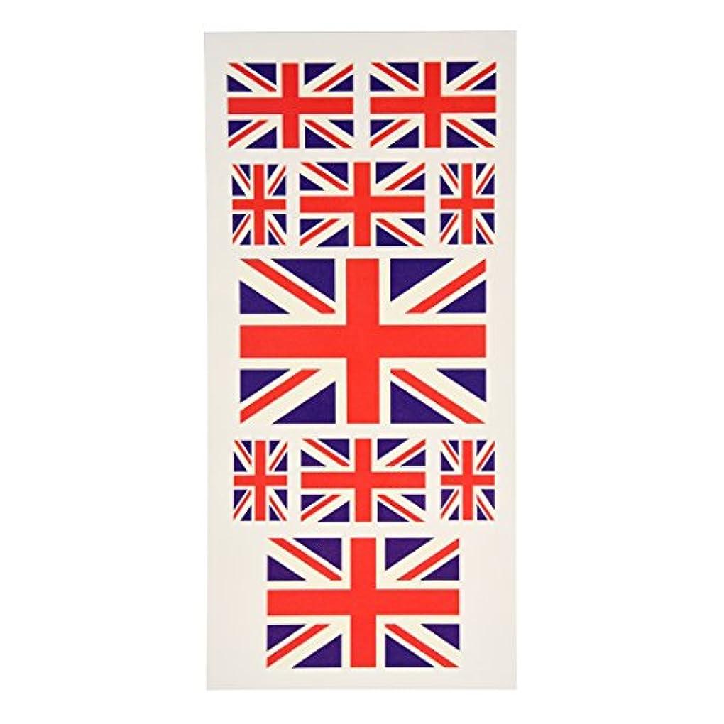 ありそう電話要求タトゥーステッカー,SODIAL(R)ファンGBユニオンジャック国旗タトゥーテンポラリー ボディーフェイスステッカー アート