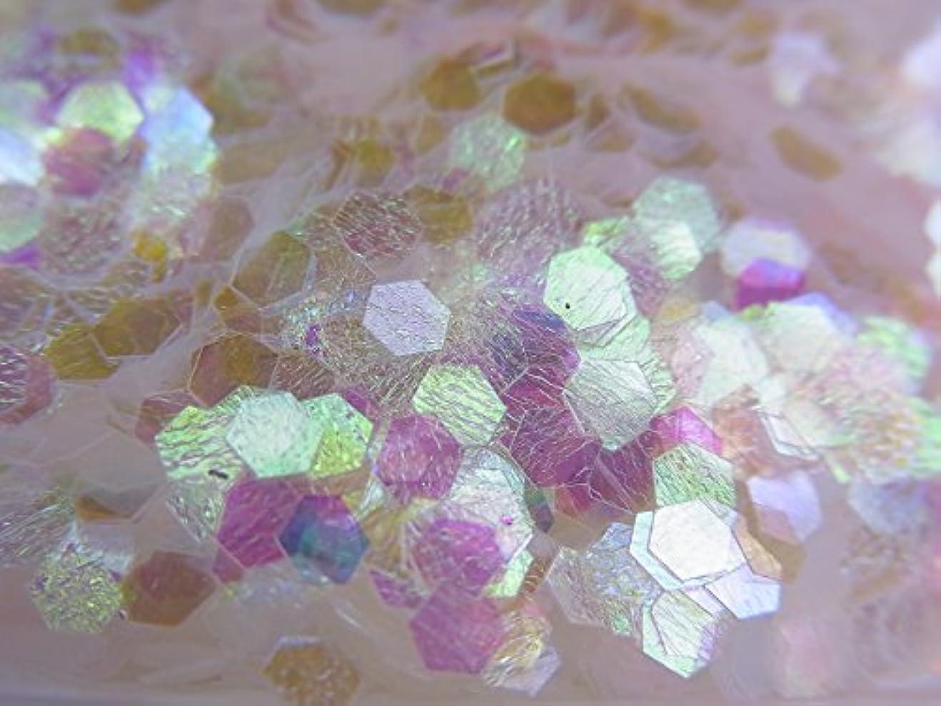 征服カード独創的【jewel】六角ホログラム オーロラホワイト 2.5mm 0.5g