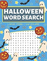 Halloween Word Search: Puzzle Book Large Print - 80 Halloween Puzzles (Edition/Volume 2)