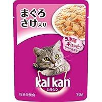 カルカン パウチ 成猫用 1歳から まぐろ さけ入り 70g×16袋 (まとめ買い) [キャットフード]
