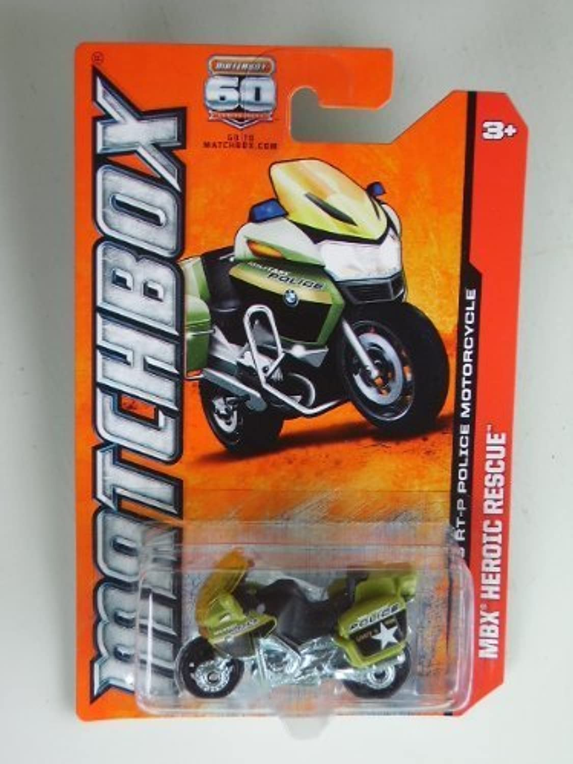 BMW R1200 RT-P Police (Green) Diecast Motorcycle (Matchbox)(2012)