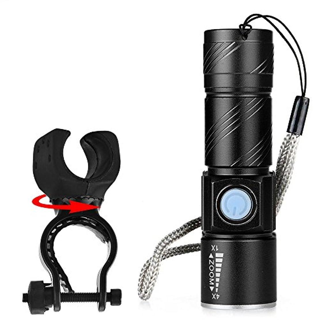 新年矛盾チャンバーRegoss (レジス) 懐中電灯 USB充電式 自転車懐中電灯1 XPG-R5 LED プロフェッショナル LED 自転車防水 +ホルダー 3モード アルミニウム合金 耐久性 ミニUSB充電、強い光 特徴COBは、 高輝度 省エネルギー 軽量で、使いやすく持ち運びが簡単です ストレート プラスチック 狩猟、サイクリング、登山、キャンプ、旅行、野外活動