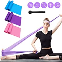Resistance Bands Set, 3 Pack Professional Latex Elastic Bands for Home or Gym Upper & Lower Body Exercise, Physical...