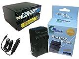 Sony DCR-TV900 互換バッテリー + 充電器 + 車内アダプター : Sony NP-F970 カメラ 対応バッテリー,充電器 (6600mAh, 7.4V, リチウムイオン)