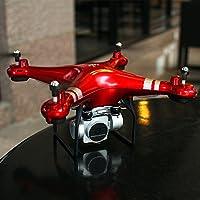 USHOT RC クアッドコプター 1080P 広角レンズ 270度回転 HDカメラドローン FPVギフト レッド DWBU462R