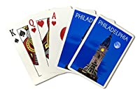 フィラデルフィア、ペンシルベニア州–City Hall and Full Moon ( Playingカードデッキ–52カードPokerサイズwithジョーカー)