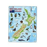 Larsen ニュージーランド フィジカル アニマルパズル (71ピース)