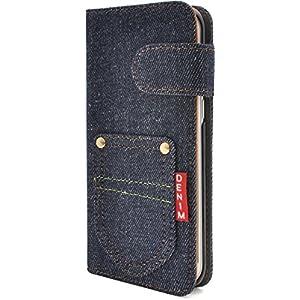 PLATA Galaxy S7 edge SC-02H / SCV33 ケース 手帳型 ポケット デニム デザイン スタンド ケース ポーチ ギャラクシー S7 エッジ 手帳 カバー ジーンズ DSC02H-63A-A