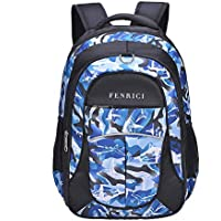 Shark Backpack for Boys, Kids, Teens by Fenrici, Durable 46 cm Book Bags for Elementary, Middle, Junior High School Students, Supporting Kids with Rare Diseases (Bravery, L)