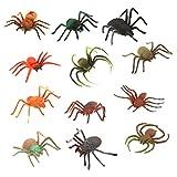 【ノーブランド品】人気動物 フィギュ スパイダー 蜘蛛セット モデルセットアニマル プラスチック おもちゃ モデル