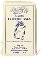 海外直送品Reusable Cotton Teabags, 3 Pk by Flower Valley