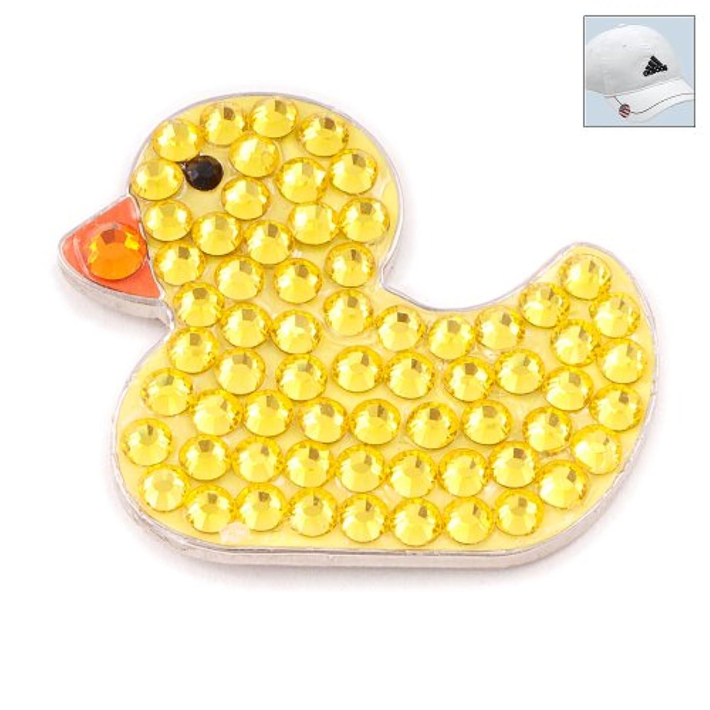 成熟支援する色合いBonjocスワロフスキークリスタルゴルフボールマーカー&帽子クリップ – Ducky