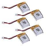 HobbyFlip Li-Po バッテリーパワーパック 3.7v 100mAh 18mm x 15mm x 4mm H111-04 Cheerson CX-11 5個パック