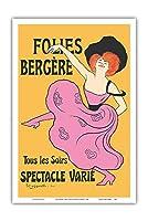 フォーリー・ベルジェール - パリ、フランス - 毎晩様々なショー - によって作成された リオネト・カピエロ c.1900 - アートポスター - 31cm x 46cm