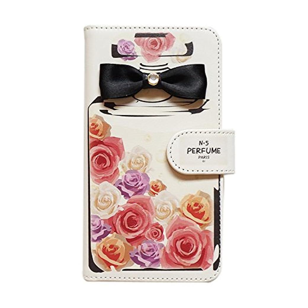 知覚呼ぶ妖精Xperia X Performance SOV33(4) 手帳型 スマホケース 香水デザイン [カードポケット/スタンド機能/全面保護] かわいい おしゃれ 全機種対応 スマホカバー diary-perfume (A.パヒュームローズ)