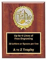 音楽PlaqueカラオケSinging Trophy Awards 5x 7木製学校Choir Trophies Free Engraving