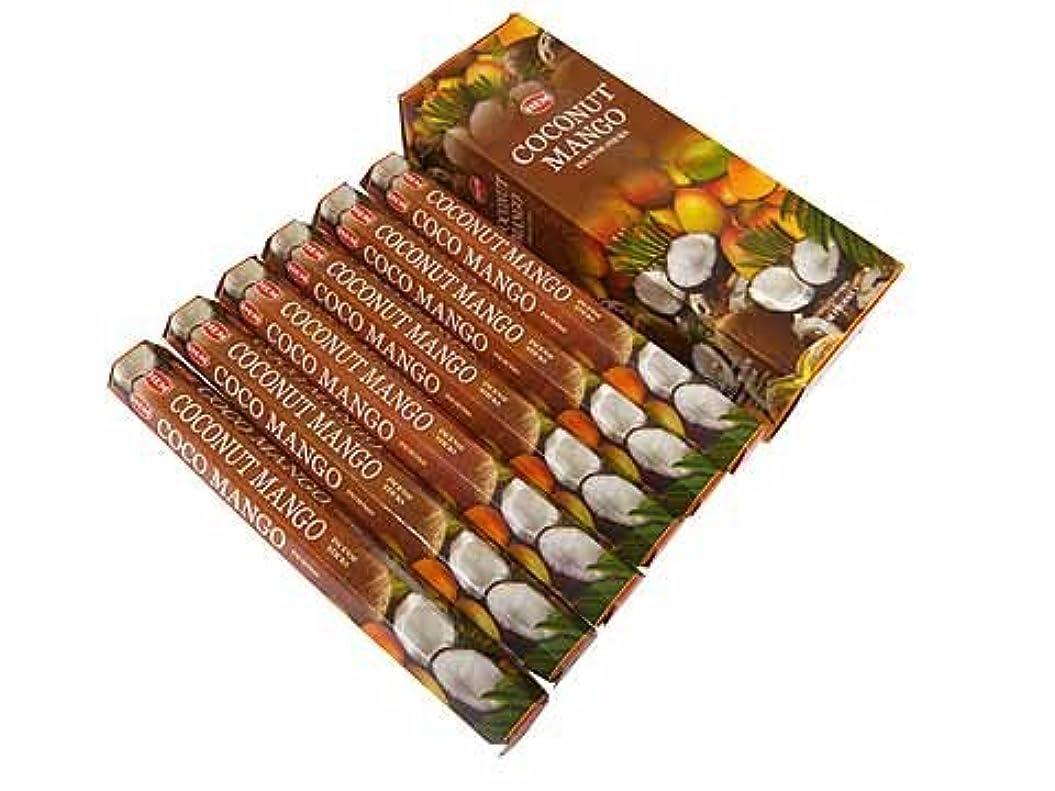 発生ゴージャス消費HEM(ヘム)社 ココナッツ&マンゴー香 スティック COCONUT&MANGO 6箱セット