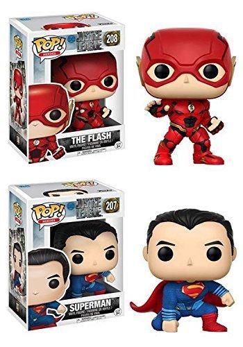 Funko ファンコ POP! Justice League ジャスティスリーグ: The Flash フラッシュ + Superman スーパーマン ? DC Vinyl ビニール Figure フィギュア Set NEW
