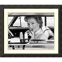 アートフレーム印刷'マリリンモンローアット・ザ・ドライヴイン、1952' by Philippe Halsman Size: 40 x 34 (Approx), Matted グレー 2294680