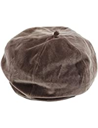 Mitchie & Mary ベロア ベレー帽 ゆったり 小顔効果 レディース 男女兼用 ベルベット ベレー