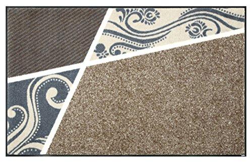 クリーンテックス ジャパン wash+dry薄型で丈夫な洗える玄関マット Belgo beige 75×120cm 1枚 [7796]