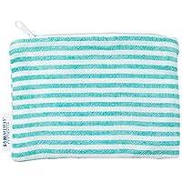 SAMMIMIS Mini Wet Bag, 100% Turkish Cotton with Waterproof Inner Lining. Zip & Fully Washable. Beach, Pool, Travel, Kids, Gym, Makeup. 18 x 13 cm.